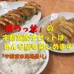 「来らっせ」の宇都宮餃子セット(680円)は色んな店の味を楽しめます(宇都宮市馬場通り)